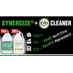 Promo Synergize & EVO Cleaners