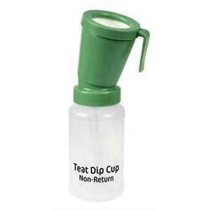 Non-return teat dip cup green
