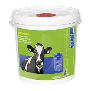 Serviettes à pis humides 100% biodégradables seau / 800