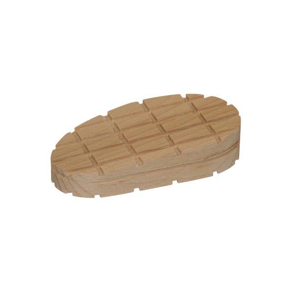 Bloc bois franc cunéiforme rayures croisées