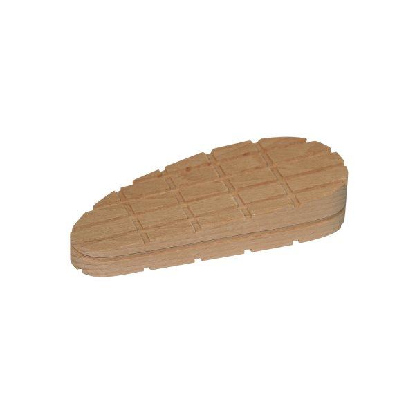 Hard wood block wedge shape cross lines XL