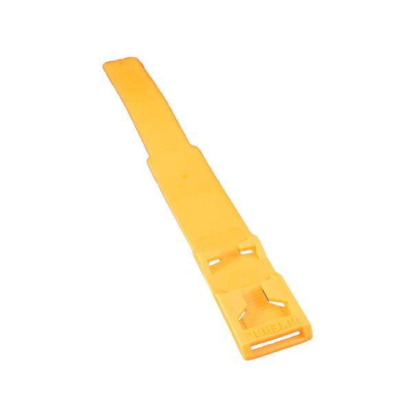 Chevillière plastique Euro vierge, jaune