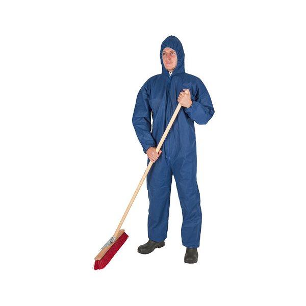 Ensemble de protection jetable avec capuchon bleu L
