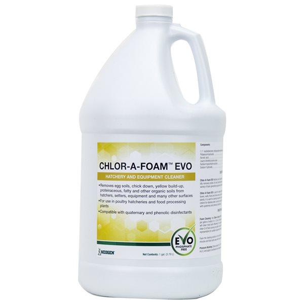 Chlor-A-Foam EVO nettoyant d'écloserie et équipement 3.79 L