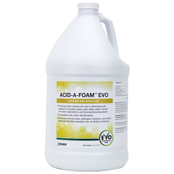 Acid-A-Foam EVO nettoyant et détartant 3.79 L