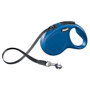 Laisse Flexi New Classic-sangle bleu M / L 50 kg**