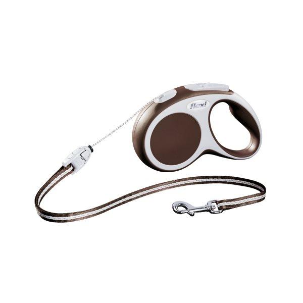 Laisse Flexi Vario-corde brun S 12 kg**