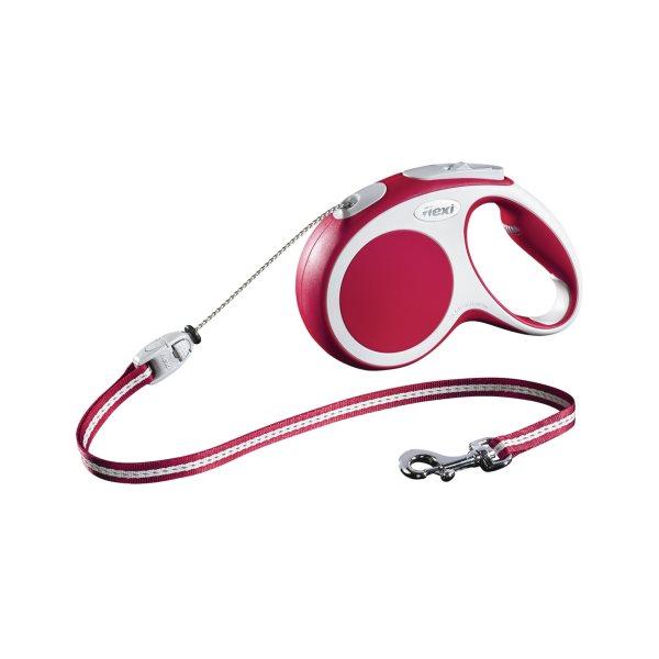 Laisse Flexi Vario-corde rouge M 20 kg**