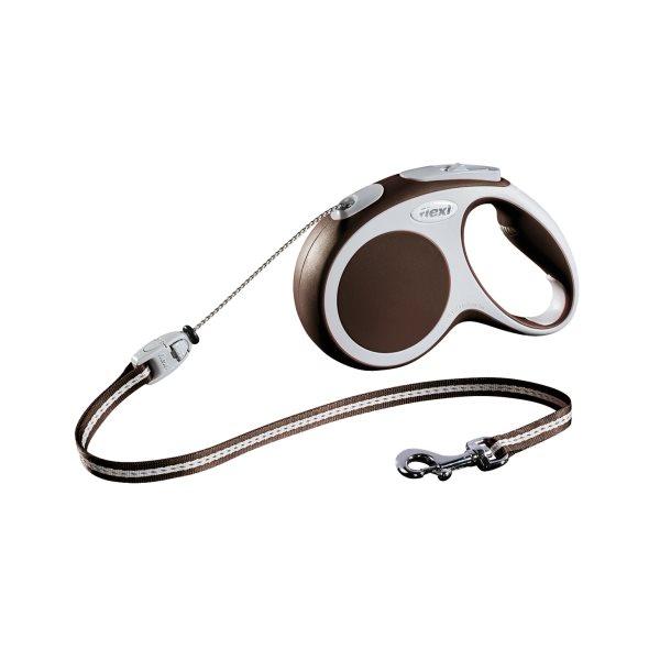 Laisse Flexi Vario-corde brun M 20 kg**