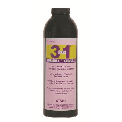 Lotion à friction 3 en 1 pour chevaux 475 ml