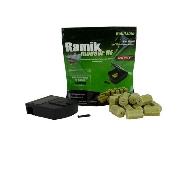 RAMIK VERT Station d'appât rechargeable emb / 16 blocs