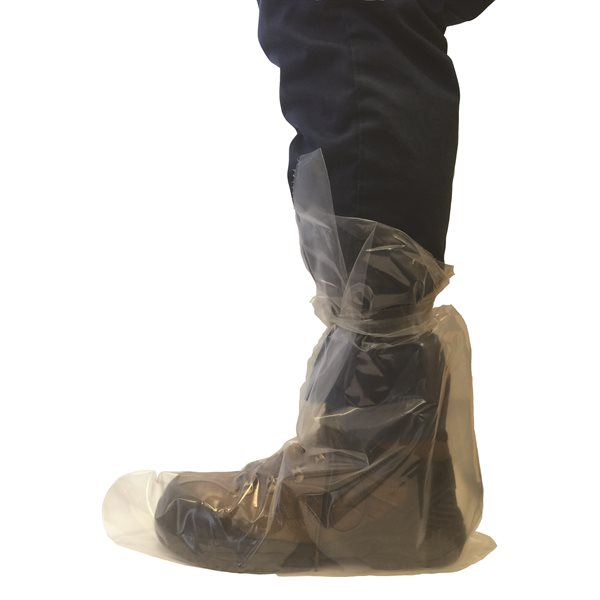 IDEAL disposable overboots with tie, 4 mil. Box / 50