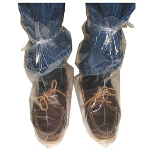 IDEAL disposable overboots with tie, 3 mil. Box / 100