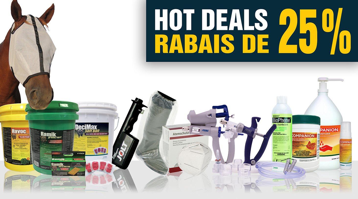 Hot Deals - Rabais de 25%