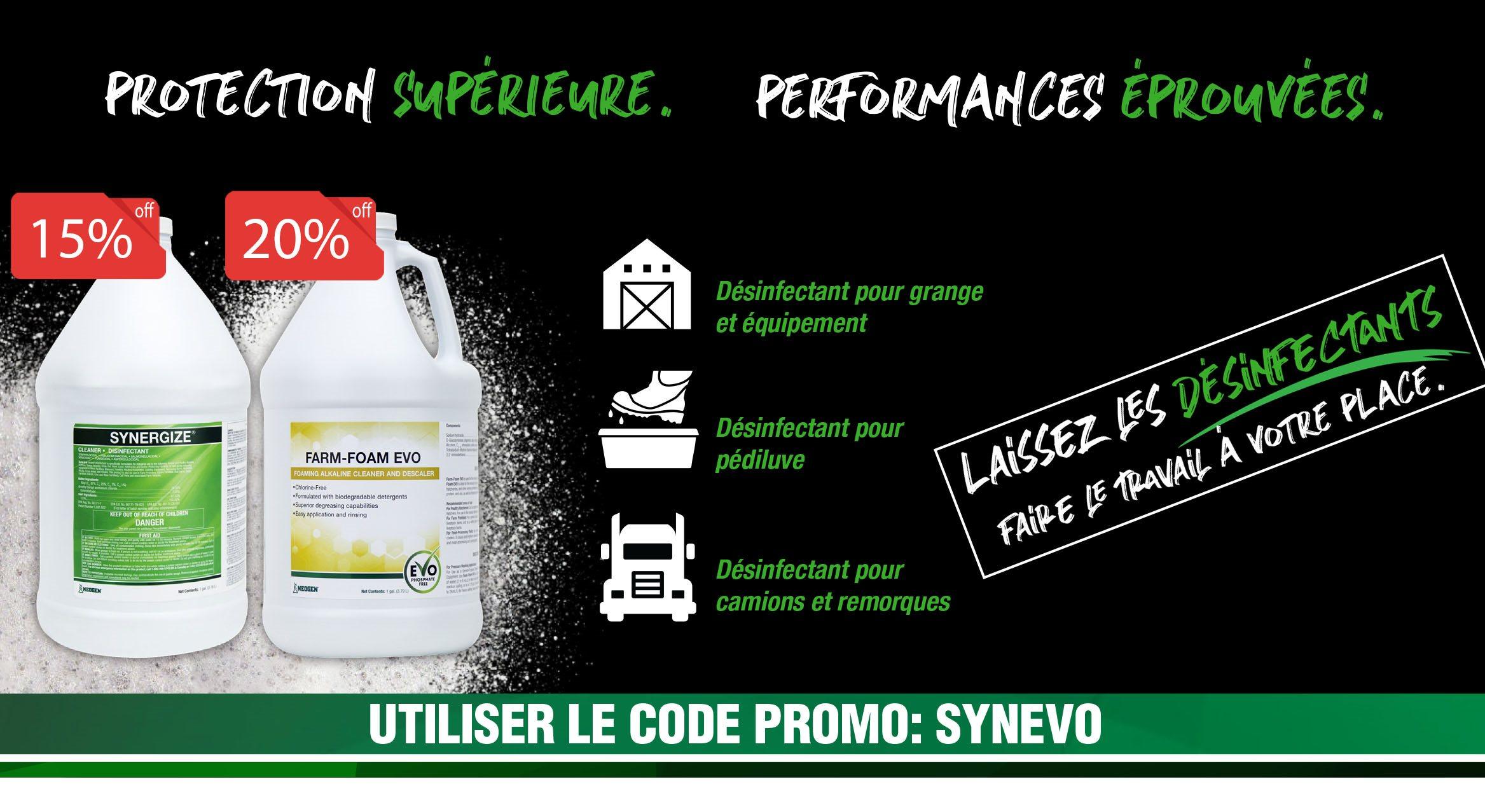 Promo Synergize et Farm-Foam Evo